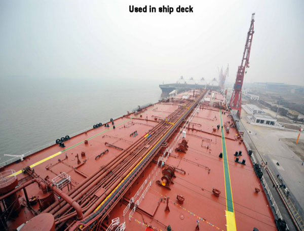 Polyurethane adhesive for ship deck