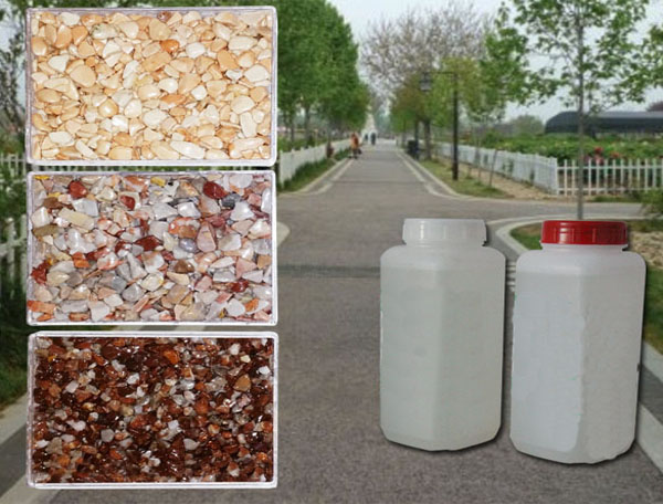 PU adhesive for ballast stone road